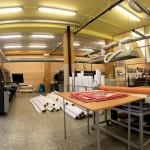 Výrobní hala, velkoplošný tisk